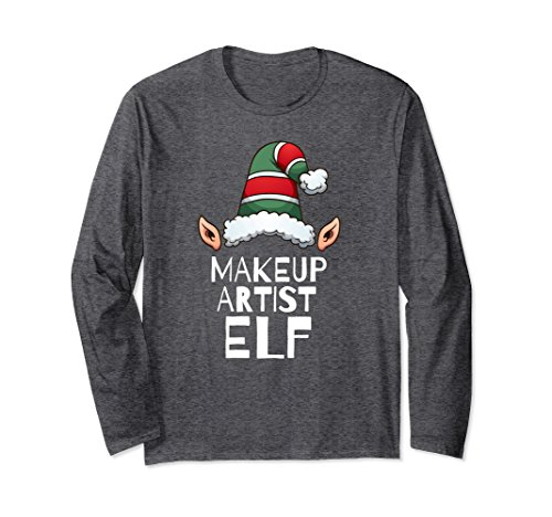 Unisex Makeup Artist Elf Long Sleeve Tshirt Christmas