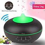 Aromatherapy Diffuser, YECO Smart Essential Oil Diffuser Ultrasonic Cool Mist Quiet Humidifier with Adjustable Mist Mode,Waterless Auto Shut-off & 15 Colors for Home Office - Father's Day Gift for Dad