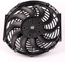 Meatyhjk ventilador de refrigeración de motor eléctrico de 10 pulgadas, 12 pulgadas, 14 pulgadas, universal, para radiador de coche, delgado, 12 V 14: Amazon.es: Hogar