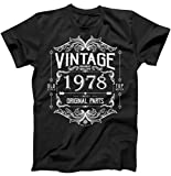 Best TeeShirtPalace Brother Tshirts - 40th Birthday Vintage 1978 Mostly All Original Parts Review
