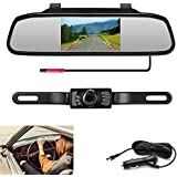 Podofo Backup Camera with 4.3 LCD Mirror Monitor for Pickup Truck Camper Night Vision Parking Reverse Assistance System