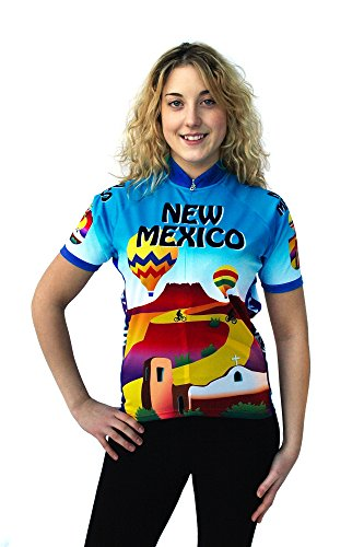 Free Spirit Wear Womens New Mexico Cycling Jersey Small