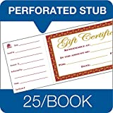 Adams 1-Part Gift Certificates with