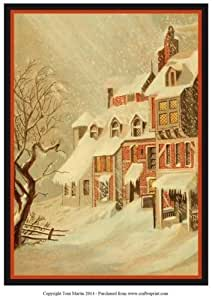 Diseño de Navidad de nieve topper por Toni Martin
