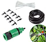 10M 33FT Garden Outdoor Patio Home Misting Cooling Irrigation System With 10PCS Plastic Mist Nozzle sprinkler