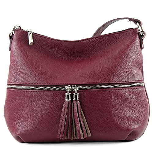 T159 Leather Red Leather bag de Bordeaux modamoda bag bag ital Shoulder Leather z4qxAa