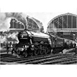 Photographic Print of The Flying Scotsman pulls out of London s King s Cross station to make by Media Storehouse