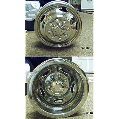 Kaper II SS-1704-EZN Polished Stainless Steel Wheel Simulator Set for Chevrolet/Dodge Pick Up (17