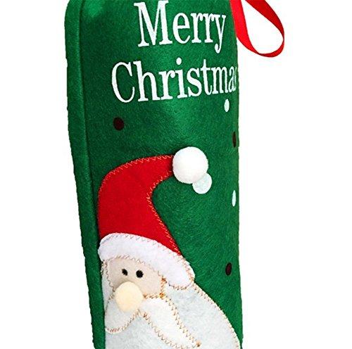 Da Sac ensembles Wine bouteille décorations Snowman Wa Noël rouge Santa de de Noël rUrXP