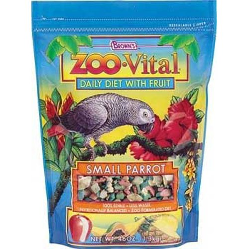 Zoo Vital Small Parrot Pelleted Diet 46oz Pouch (6pc) by FM Brown