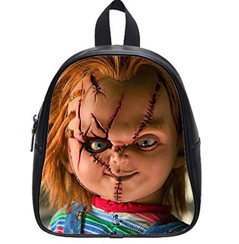 Emana Leather Backpacks Chucky Doll teenagers middle school Student Shoulder School Bag travel (Chucky Dolls)