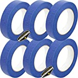 6 Rolls of Mighty Gadget (R) Professional Painters Tape for Interior and Exterior uses - Blue Color (0.94 in. x 60 Yards)