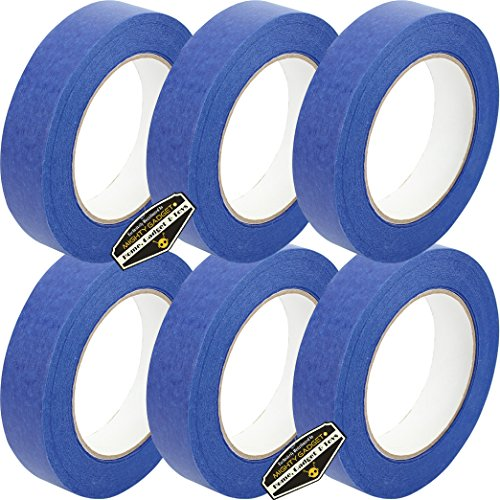 6 Rolls of Mighty Gadget (R) Professional Painters Tape for Interior and Exterior uses - Blue Color (0.94 in. x 60 Yards) by Mighty Gadget