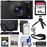 Sony Cyber-Shot DSC-RX100 VI 4K Wi-Fi Digital Camera with LCJ-RXF Jacket Case + 64GB Card + Battery & Charger + Tripod + Strap + Kit For Sale