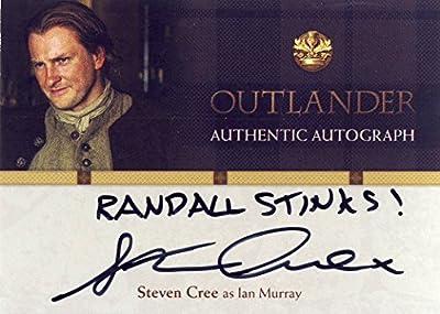 "2016 Outlander Season 1 Trading Cards Autograph Card SC Steven Cree as Ian Murray ""Randall Stinks!"" inscription"