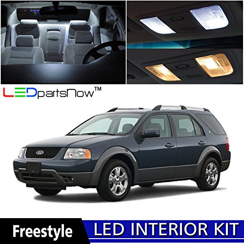 ledpartsnow-ford-freestyle-2005-2007-xenon-white-premium-led-interior-lights-package-kit-6-pieces