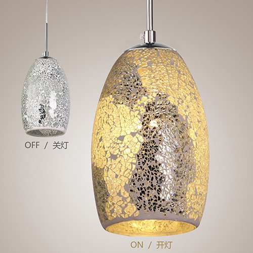LightInTheBox Decoration Pendant, 1 Light, Tiffany Resin Glass Painting Processing, Modern Home Ceiling Light Fixture Flush Mount, Pendant Light Chandeliers Lighting, Home Color=Blue;Voltage=110-120V by LightInTheBox