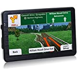 2017 Update XINDA 7 Inch Portable GPS Navigation with 800480 LCD Touchscreen Display Built-in 8GB ROM FM Lifetime...