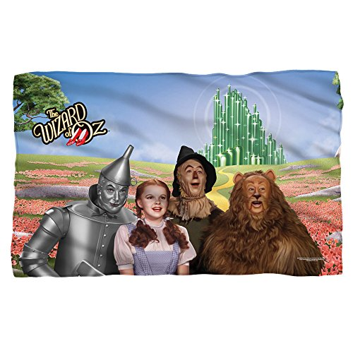 Wizard Of Oz Blankets - WIZARD OF OZ/EMERALD CITY - POLY 36X60 BLANKET - White - ONE SIZE by Trevco