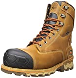 """Timberland PRO Men's Boondock 8"""" Composite Toe Waterproof Insulated Industrial Boot, Wheat Distressed, 10"""