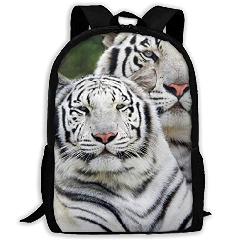 Wildcats Picnic Backpack - Oswz White Tiger Wildcat Zoo Animal Travel Backpack Insulated Soft Lunch Cooler for Men Women, Best for Picnic, Hiking, Travel, Beach, Sports, Work