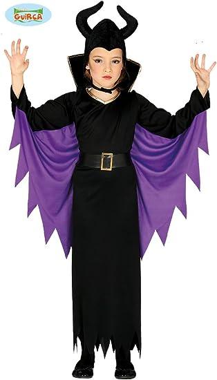 Guirca grafoplas Disfraz Reina maléfica niña 5/6 años, Color Negro ...