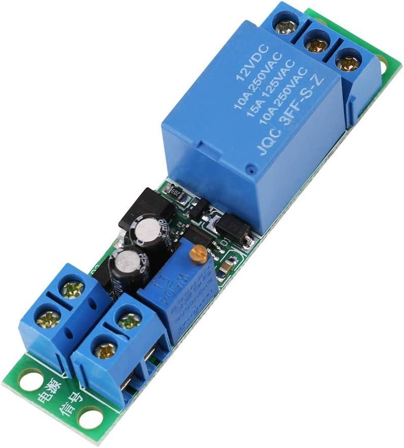 Relé temporizador, disparador de señal ajustable Retardo de apagado Interruptor temporizador Módulo de relé 12V