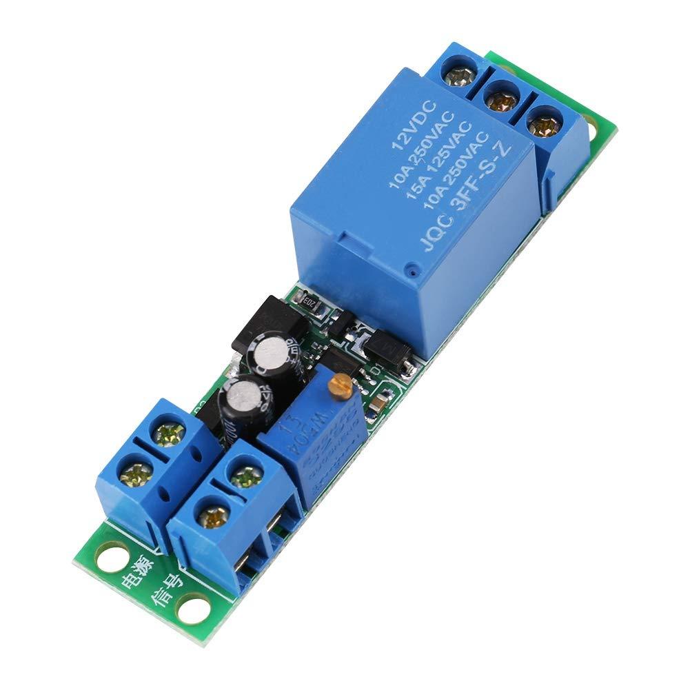 Rel/é temporizador disparador de se/ñal ajustable Retardo de apagado Interruptor temporizador M/ódulo de rel/é 12V