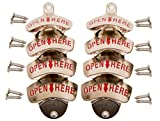 Eight Pack – Soula Designs Wall Mounted Beer and Soda Bottle Opener, Free Mounting Hardware, Easy Installation Mount, Set of 8 Review