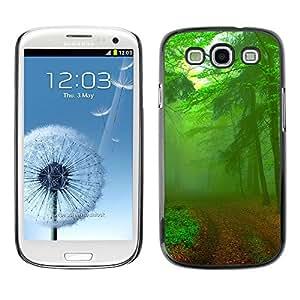 Be Good Phone Accessory // Dura Cáscara cubierta Protectora Caso Carcasa Funda de Protección para Samsung Galaxy S3 I9300 // Green Forest Road