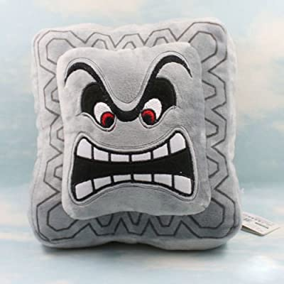 "Super Mario Bros Plush Soft Toys Cushion Pillow Thwomp Dossun 9"": Toys & Games"