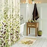 Dark Green Shower Curtain DS BATH Tulip Tree Green Leaves Shower Curtain,Flower Shower Curtain,Plants Shower Curtains for Bathroom,Floral Bathroom Curtains,Print Waterproof Polyester Fabric Shower Curtain,72