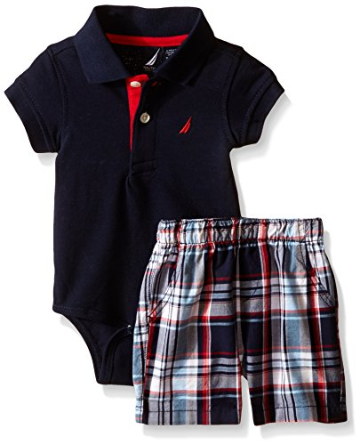 - Nautica Baby Short Sleeve Polo Core Bodysuit Set, Sport Navy, 0-3 Months