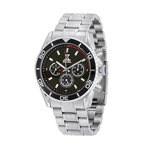 Nobel Men's ESZ624GR Chronograph Display Stainless Steel Multi-Function Watch, Christmas Gift for Him