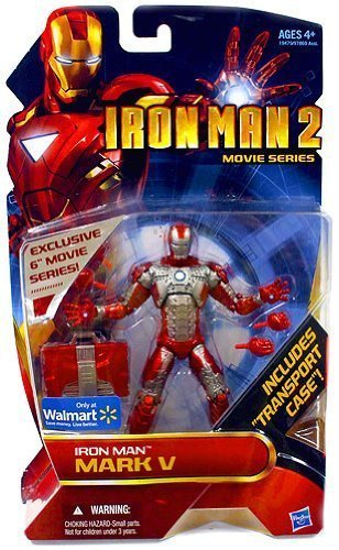 Iron Man 2 Movie Series 6 Inch Exclusive Action Figure Iron Man Mark V (Iron Man 2 Mark V Action Figure)