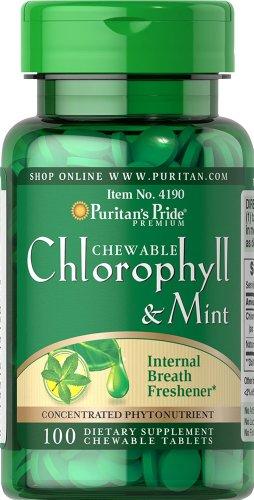Fierté croquer chlorophylle et à la menthe 3 mg-100 à croquer de puritains