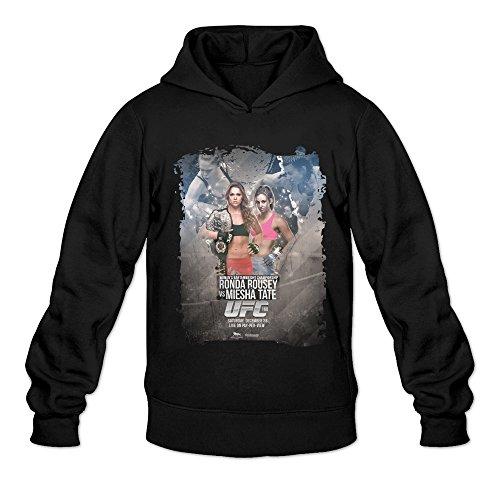 MARY Men's Ronda Rousey Vs Miesha Tate Costume Hoodie (Howard Stern Costume)