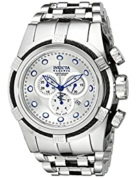 Invicta Men's 14066 Bolt Reserve Chronograph Silver Dial Stainless Steel Watch