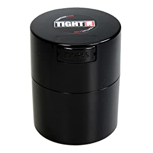 Tightvac - 1/2 oz to 3 ounce Airtight Multi-Use Vacuum Seal Portable Storage Container for Dry Goods, Food, and Herbs - Black