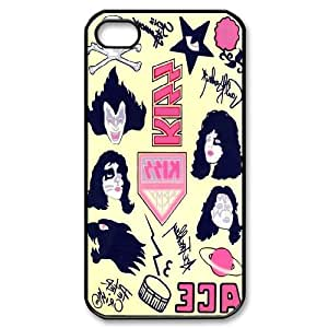 kiss rock punk band Phone Case For Iphone 4 4S case cover TPUKO-Q801860