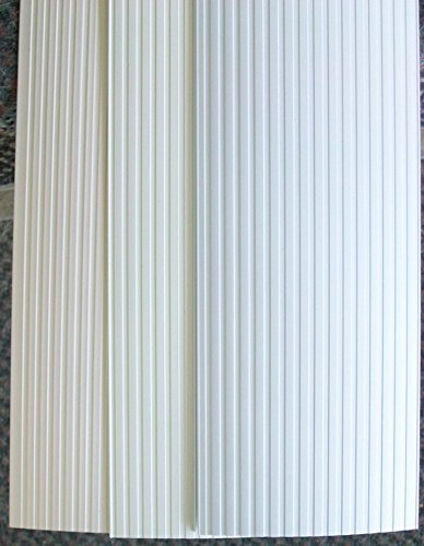 JCBlinds Vertical Blind Replacement Vanes Ribbed White 5PK 82 1/2'' x 3 1/2'' by JCBlinds