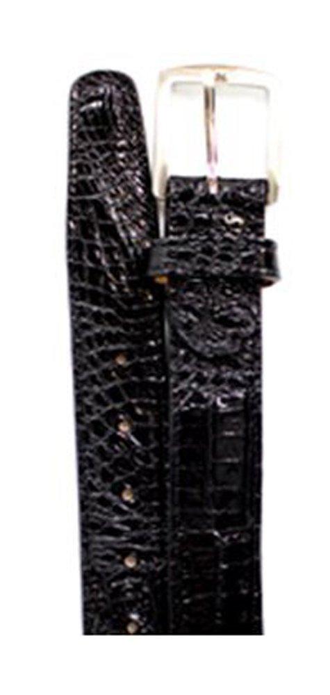 Belvedere Crocodile Belt # 1999 Black 44