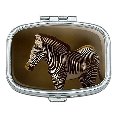 Baby Zebra Young Foal Rectangle Pill Case Trinket Gift ()