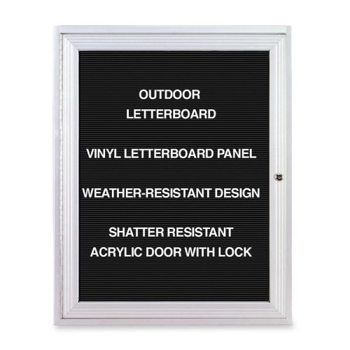 Ghent Outdoor Letterboards-Outdoor Enclosed Letterboards,1-Door,3'x2',Aluminum Frame by GHE