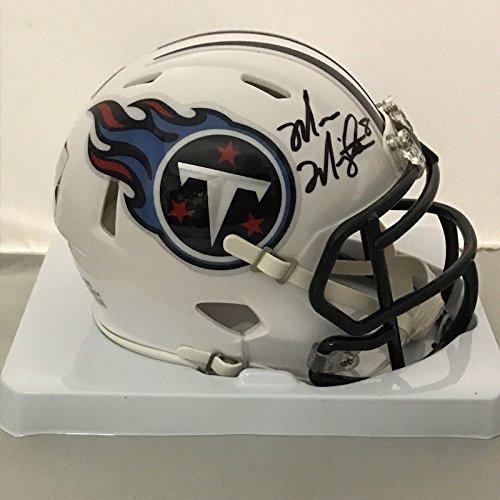 Signed Titans Mini Helmet (Autographed/Signed Marcus Mariota Tennessee Titans Football Mini Helmet GTSM COA Holo Only)