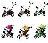 Clamaro Kinder Dreirad 'Roadking' inkl. Schiebestange, Klingel und klappbaren Fußstützen, Kinderdreirad mit Hartgummibereifung und Chromfelgen - Pink
