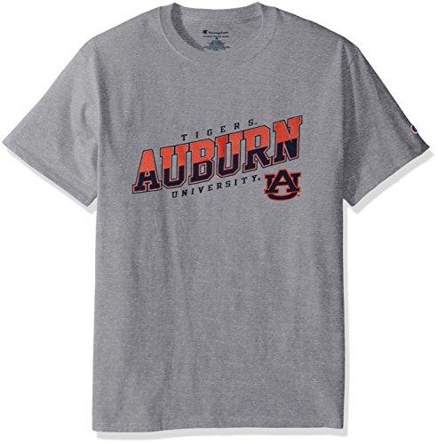 Auburn Tigers Ncaa Oxford (NCAA Auburn Tigers Men's Champ Short sleeve T-Shirt, Large, Oxford Heather)