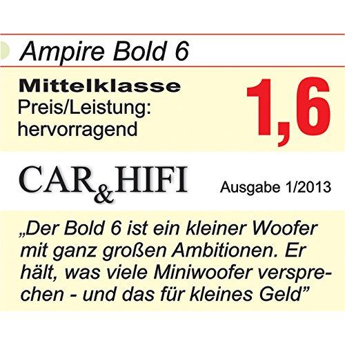 16,5/cm//6,5 4/ Ampire Bold 6/Caisson de basses 4/ohms 250/W