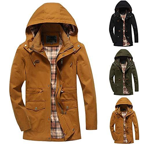 Veste Noire Homme Long A marron Parka Casual Jackets Trench Hiver Outwear Poches overdose Capuche À Soldes Coat Eq8gv
