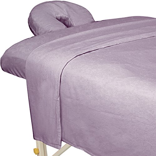 Wash Flannel Sheets - ForPro Premium Flannel Sheet 3-Piece Set Lavender